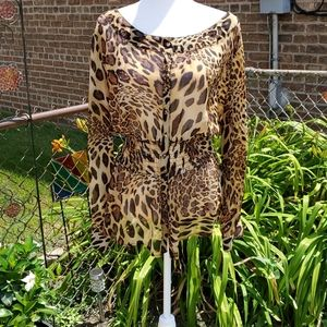 Animal print shirt sz18  Ashley Stewart